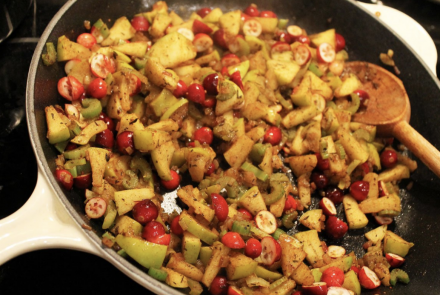 Cranberry Apple Quinoa Stuffing