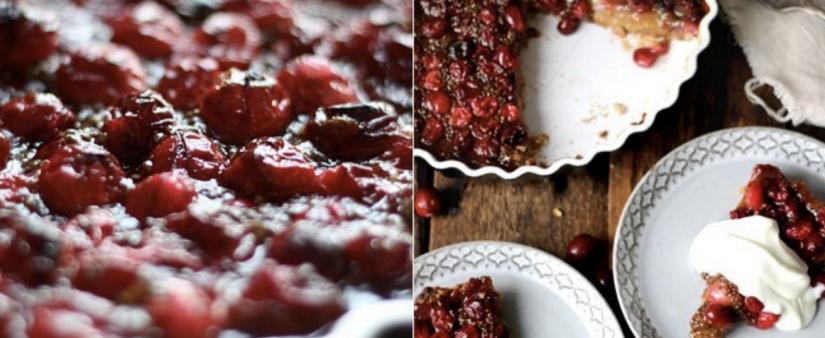 Cranberry Pear Tart