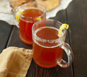 Ginger Lime Hot Tea (with optional Tea Toddy recipe)