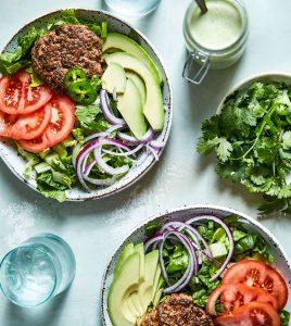 Gluten-Free Hamburger Salad with Creamy Jalapeño Dressing