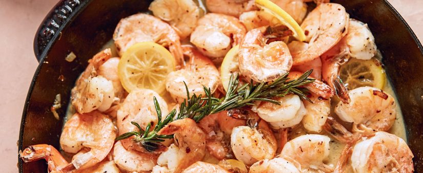 Gluten-Free Rosemary-Lemon Shrimp