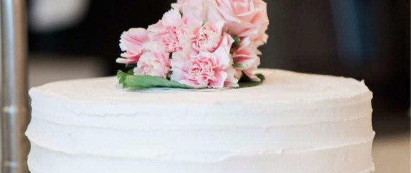 Vanilla Raspberry Filled Cake