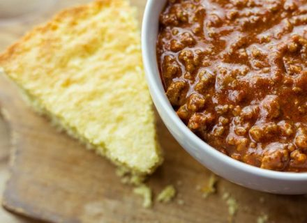 Chili and Cornbread Bake