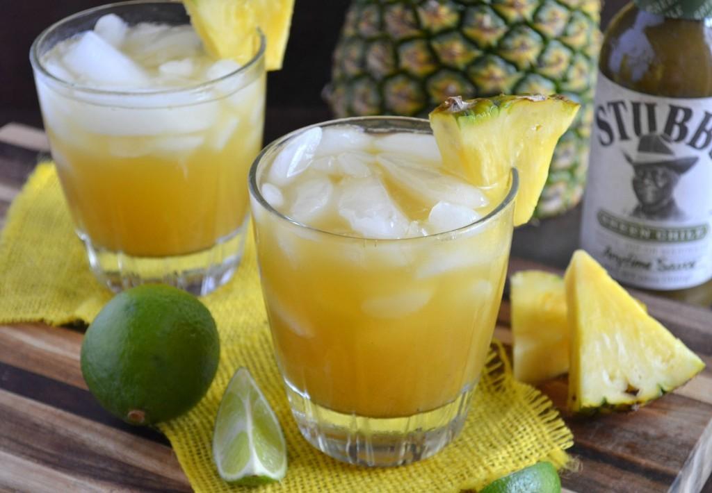 Pineapple Green Chile Margarita