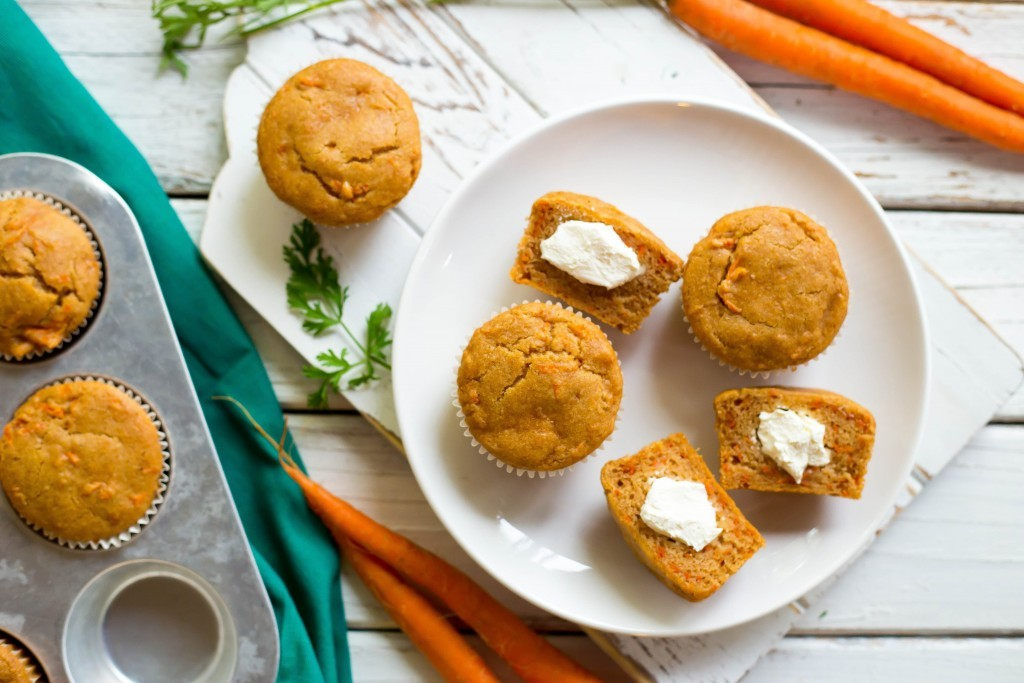 Cream Cheese-Filled Carrot Cake Muffins
