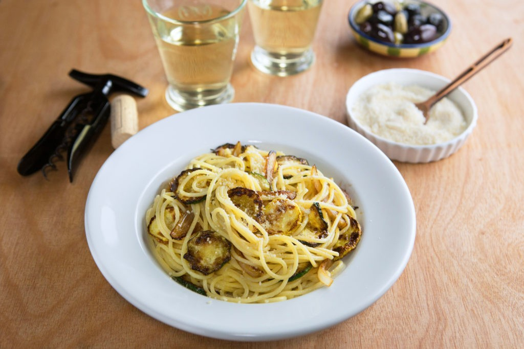 Summer Pasta with Zucchini and Onions