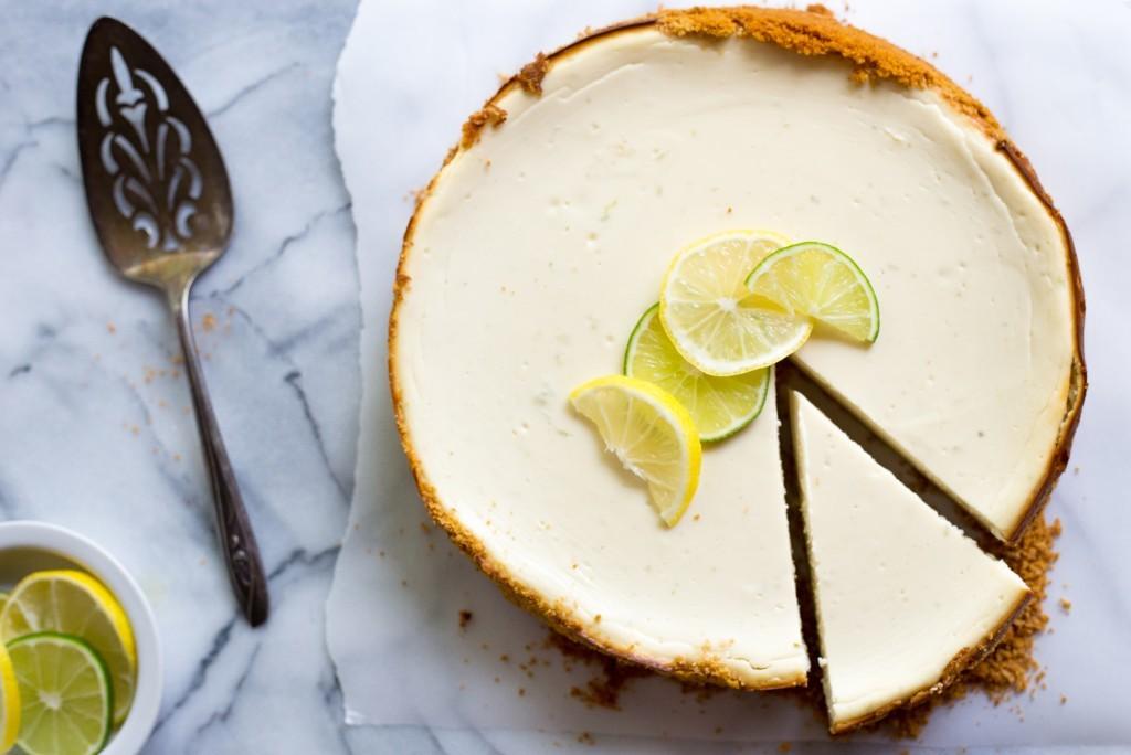 Lemon Lime Greek Yogurt Cheesecake