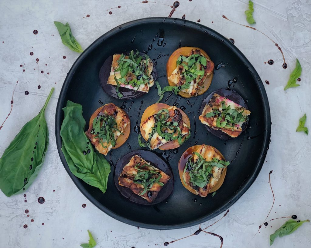 Beet and Halloumi Appetizer