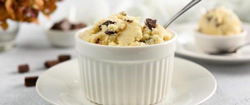 Gluten-Free Chocolate Chip Edible Raw Cookie Dough